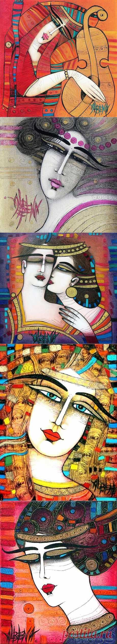 Любимая, тебе мои слова признанья... Художник Albena Vatcheva и Омар Хайям.
