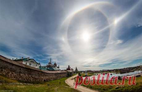 Удивительное солнечное гало на Соловках 24 августа 2013 года : НОВОСТИ В ФОТОГРАФИЯХ