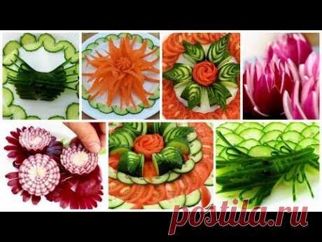 10 Handmade Salad decoration,Salad design | Fruit & Vegetable Carving & Cutting Garnish