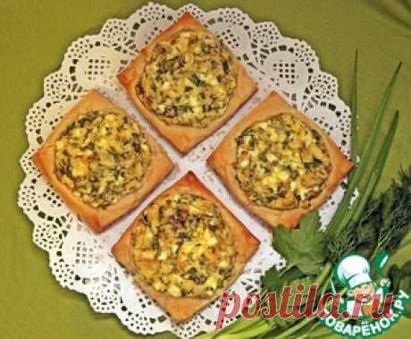 Ленивые пирожки со свежей зеленью - кулинарный рецепт
