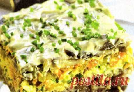 La ensalada, conocida a todo, «el arenque bajo la pelliza» de una manera nueva