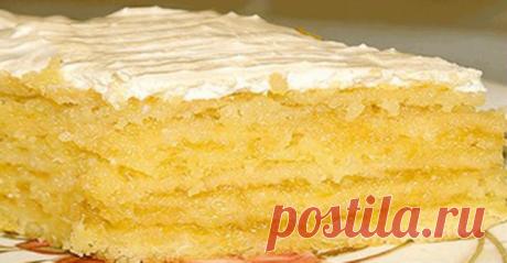 Лимонный торт. Когда я впервые этот тортик испекла, то поняла, что это любовь с первого взгляда.  Хочу сегодня поделиться с вами рецептом любимого лимонного торта эстрадной певицы Ирины Аллегровой. Готовила его много раз, он всегда получается