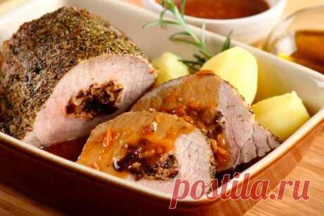 Свинина с черносливом в духовке с ореховым соусом – пошаговый рецепт с фото.