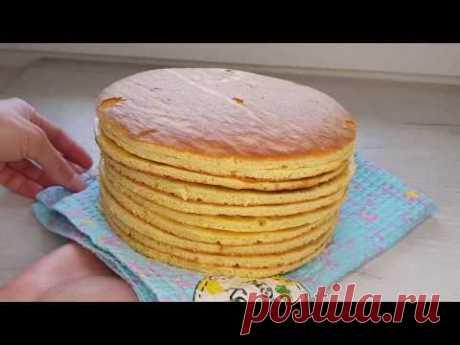 """Коржи для торта """"Молочная девочка"""" - Лучший сайт кулинарии"""