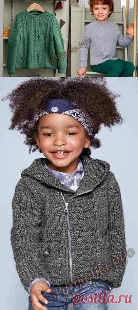 Детский свитер спицами для мальчика (схемы)