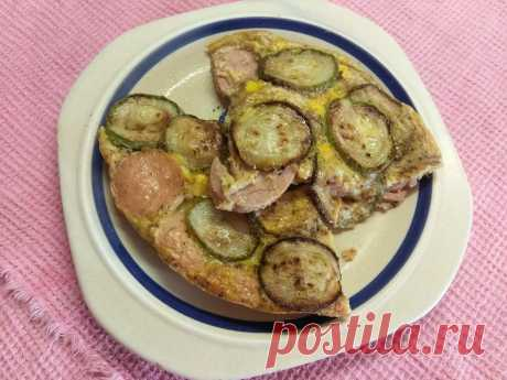 Яичная запеканка с кабачком и варенной колбасой рецепт с фото пошагово