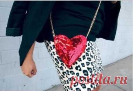 Креативная сумочка в виде сердца! - Doit-Yourself.Ru