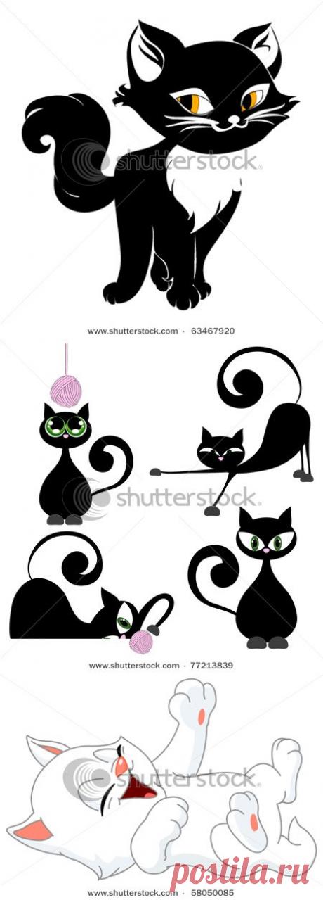 Трафареты кошек часть1,2,3,4,5.