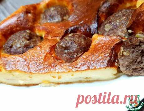 Заливной пирог с фрикадельками – кулинарный рецепт