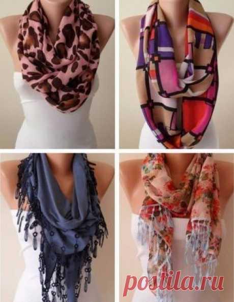 Как модно завязать шарф этой осенью