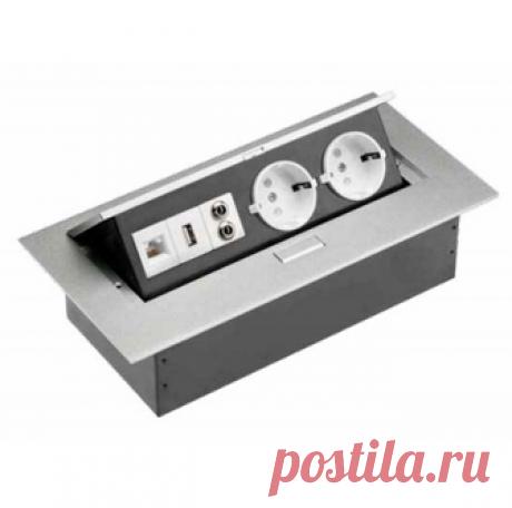 Блок розеток встраиваемый в столешницу - купить в Москве недорого с доставкой