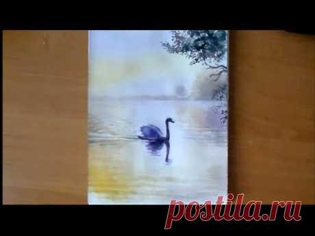 Как нарисовать летний пейзаж акварелью/Урок для начинающих