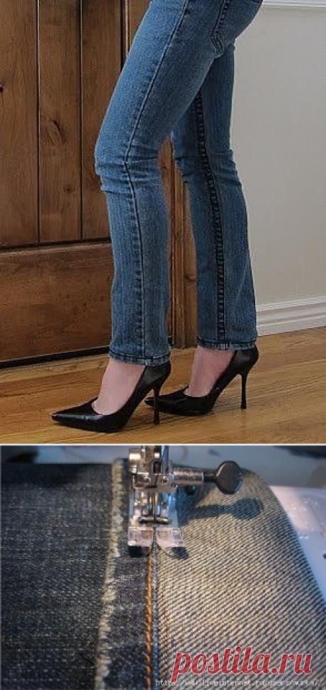 Подшиваем джинсы с сохранением фабричного шва — Сделай сам, идеи для творчества - DIY Ideas