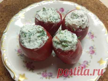 Помидоры, фаршированные фетой с зеленью - рецепт с фото пошагово