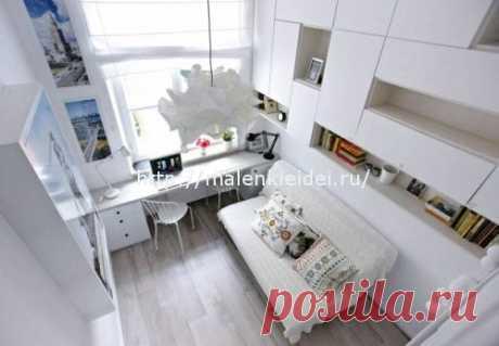 Интерьер квартиры с мезонином, площадью 15 кв. метров