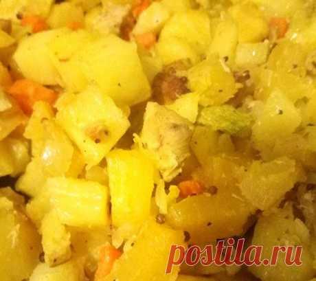 Витаминное рагу с тыквой и индейкой Витаминное рагу с тыквой и индейкой - пошаговый кулинарный рецепт приготовления с фото, шаг за шагом.