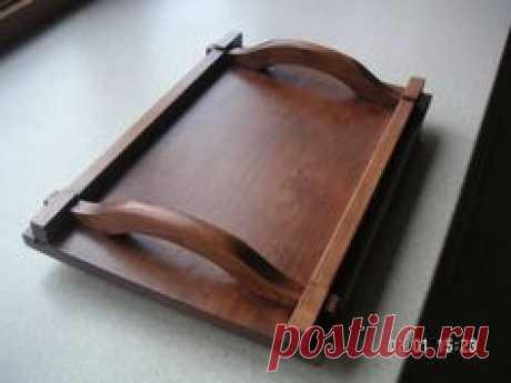 tray wood dovetailed