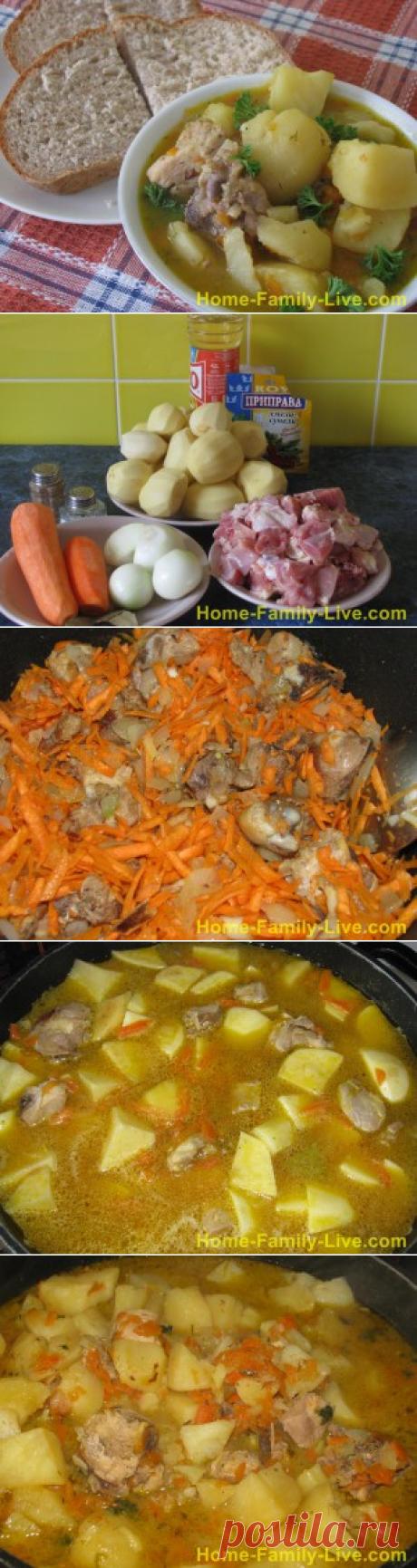 Тушеная картошка с курицей/Сайт с пошаговыми рецептами с фото для тех кто любит готовить