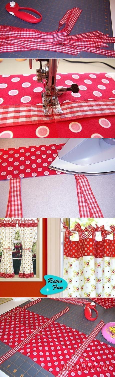 Очень красивые шторы в деревенском стиле — Сделай сам, идеи для творчества - DIY Ideas