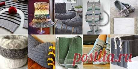 Что можно сделать из старых свитеров | ДОМ ЯРКИХ ИДЕЙ |