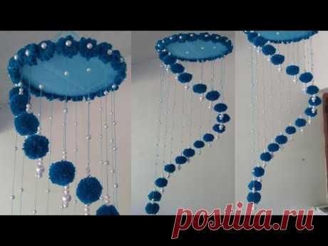 Woolen Wall hanging|Easy Yarn Ceiling hanging | Yarn Decor
