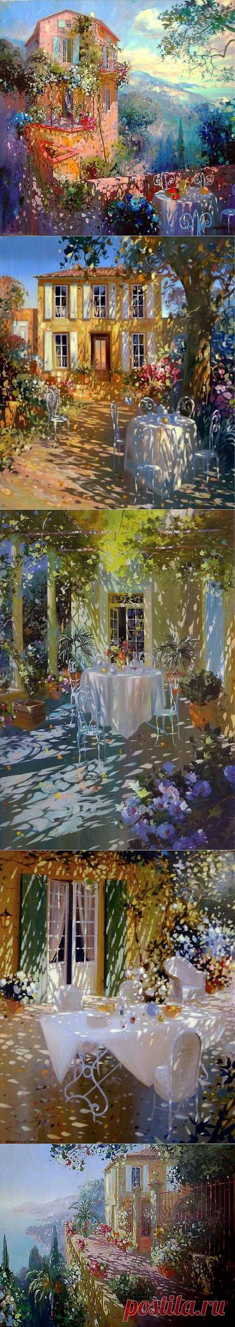 Веселые и теплые пейзажи Лорана Парселье   Искусство