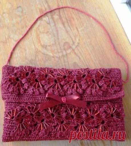 Вечерняя сумочка - подарок на Новый год | Вязание крючком, схемы вязания, бесплатное вязание крючком