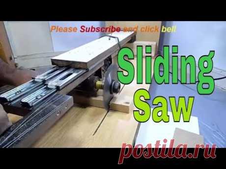 how to make Sliding Saw , homemade sliding saw , handmade sliding miter saw