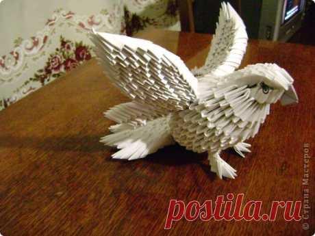 Модульное оригами - Моя голубка авторская работа МК