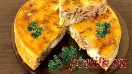 """Правильное питание: наливной пирог с тунцом """"Сыты все!""""   Уютный блог уютной женщины   Яндекс Дзен"""