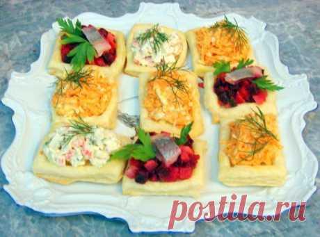 Волованы из готового слоеного теста рецепт с фото пошагово - 1000.menu