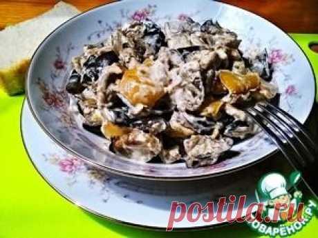 Сатараж - смесь из запеченных овощей в сметане