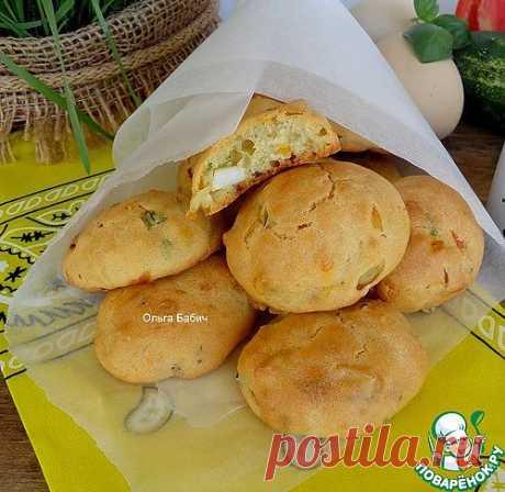 """""""Ленивые"""" булочки с яйцом и зеленью - кулинарный рецепт"""