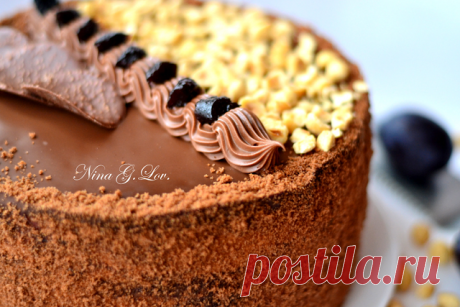 """Моя копилка - Кухня: Шоколадный торт с """"пьяным"""" черносливом и карамельно-сливочным кремом"""