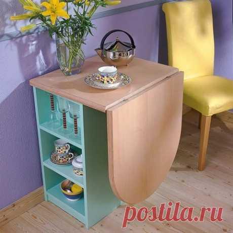 Столы, которые эффективно оптимизируют пространство маленькой кухни