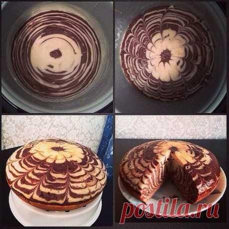 Торт Зебра в мультиварке / Удивительная еда!