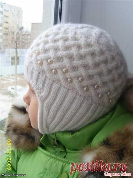 Детская шапочка — Жемчужная зима (Вязание спицами) | Журнал Вдохновение Рукодельницы
