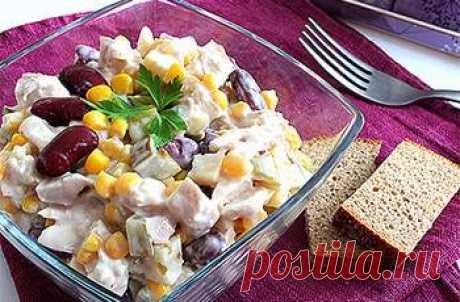 Шикарный Салат из фасоли - Простые рецепты Овкусе.ру