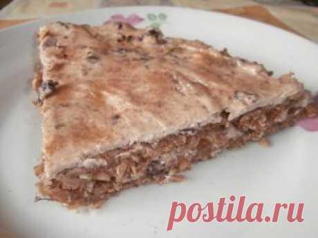 Вкусный низкокалорийный торт с клубникой, творогом и овсянкой