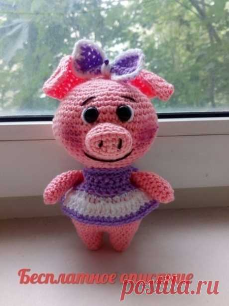 Вяжем милую девочку-свинку  Автор: Валентина Циглер