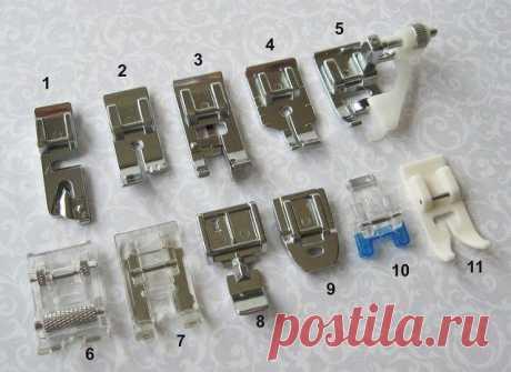 Прижимные лапки для швейной машины (Шитье и крой) — Журнал Вдохновение Рукодельницы