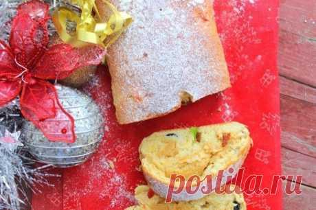 Штоллен с сухофруктами и марципаном — Sloosh – кулинарные рецепты