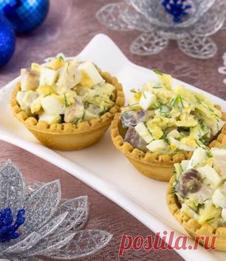 Закуска «Тарталетки с сельдью» — Sloosh – кулинарные рецепты