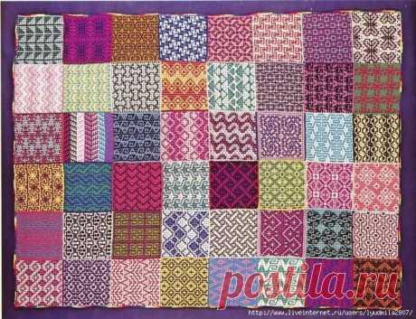 ЛЕНИВЫЙ ЖАККАРД (МНОГО ФОТО) / Вязание спицами / Вязание для женщин спицами. Схемы вязания спицами