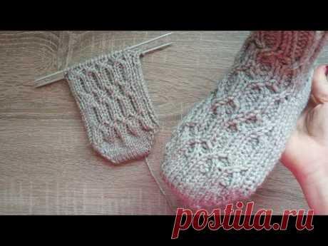 Носочки с красивым мыском без единого шва. Подробно на любой размер.