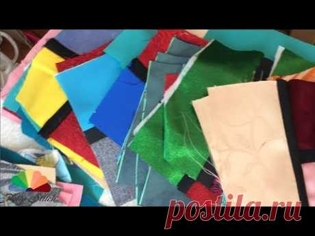 Витражи: дубль 2 DIY Лоскутное одеяло из портьерных тканей - YouTube
