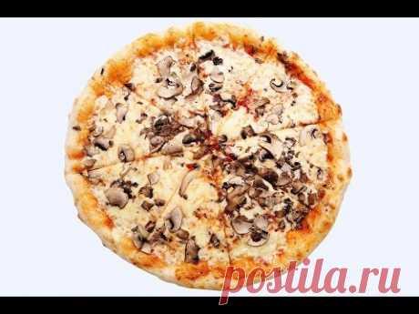 Американская Пицца с грибами и курицей