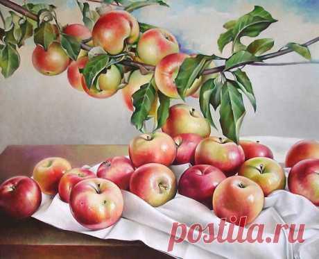 Схема вышивки «яблоки» - Вышивка крестом