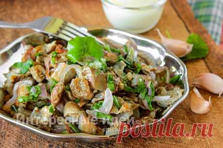 Салат из жареных баклажанов «Вкуснотища» на каждый день