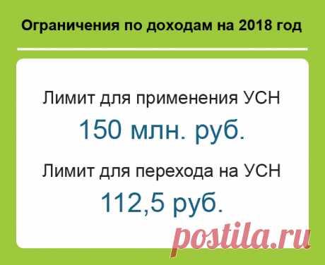 Лимиты по УСН на 2018 год